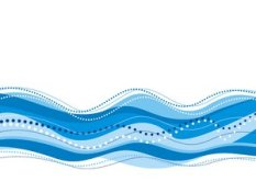 wavy blue color rbg stock