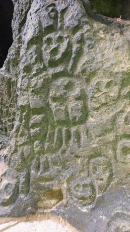 Petroglyphs in La Cueva del Indio, Arecebo, PR